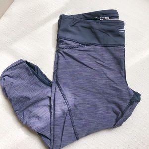 EUC  blue strip Lululemon crop pants, size 8